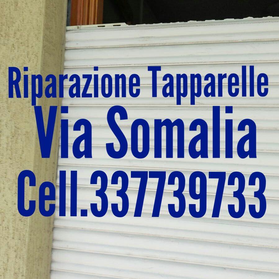 riparazione tapparelle avvolgibili serrande elettriche via SOMALIA quartiere Africano - Roma cell.337739733